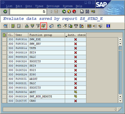 Result list of report ZS_STAD_EXTRACT_RFC_CALLS