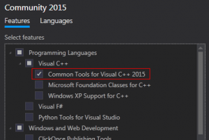 "Visual Studio 2015 (""cl.exe"")"